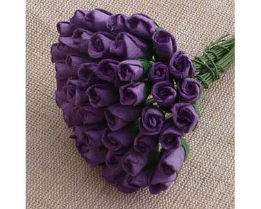 Mulberry paper Closed Rose Buds - Purple