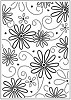 Crafts Too - Embossing Folder - Daisy & Swirl