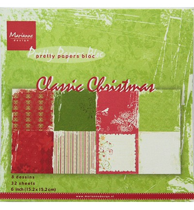 Marianne Design - Pretty Papers Bloc - Classic Christmas