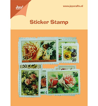 Joy! Postzegel stickers Bloemen