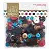 Papermania - Assorted Buttons - Spots - & Stripes Jewels