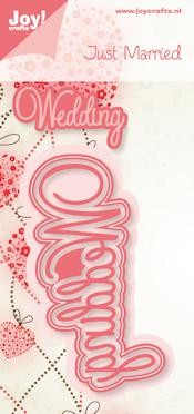 Joy! Stencil tekst Wedding