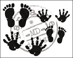 Marianne Design - Clear stamp - Hand and Feet