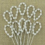 White pearl loop spray stems