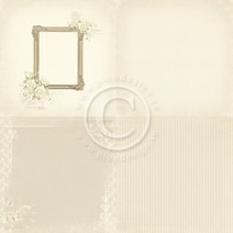 Pion - Vintage Wedding - Photo frame