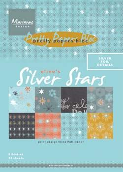 Marianne Design - pretty papers bloc Eline`s silver star