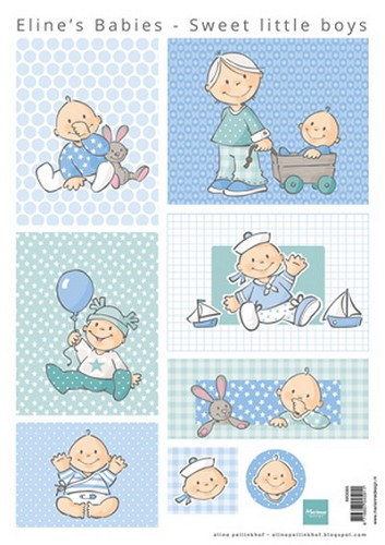 Marianne Design - Knipvel - Eline`s sweet little boys