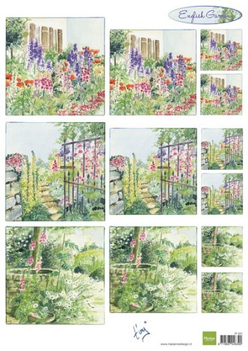 Marianne Design - Knipvel - Tiny`s english garden foxgloves