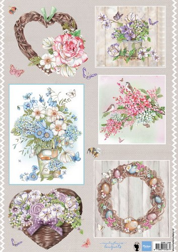 Marianne Design - Knipvel - Els Country flowers 2