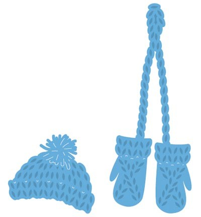 Marianne Design - Knitted hat and mittens