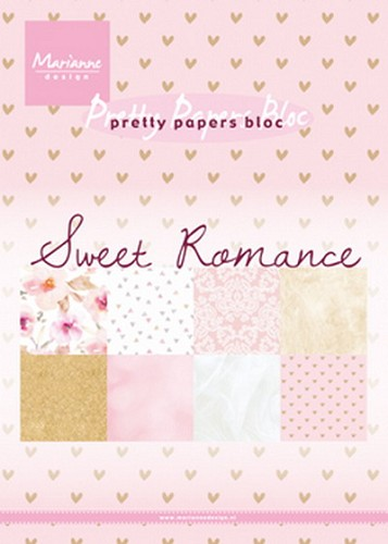 Marianne Design - Pretty Papers Bloc - Sweet Romance