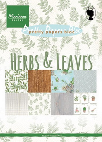 Marianne Design - Pretty Papers Bloc - Herbs & Leaves