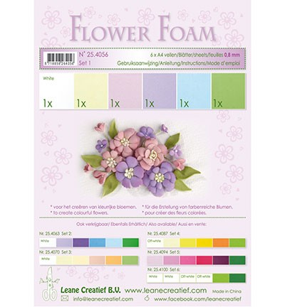 Flower foam - assortment - Set 1 - Pastel Colours