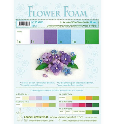 Flower foam - assortment - Set 1 - Blue - Violet - Colours