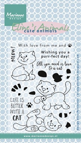 Marianne Design - Clear stamp  - Eline`s Kittens