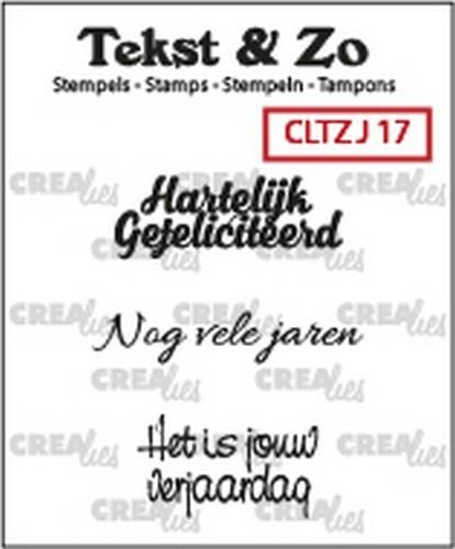 Crealies - Clearstamp - Jarig