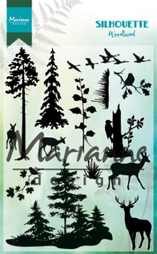 Marianne Design - Clear stamp - Silhouette - Woodland