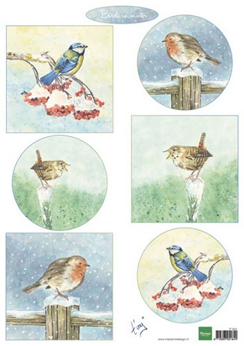 Marianne Design - Knipvel - Tiny´s Birds in winter