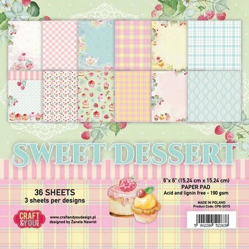Craft & You - Sweet Dessert - Small paperpad