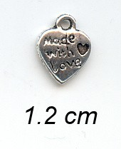 Charms 139 - Made with love - Zilver