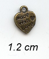 Charms 140 - Made with Love - Brons