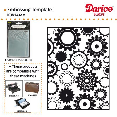 Darice - Embossing Folder - Steam Punk