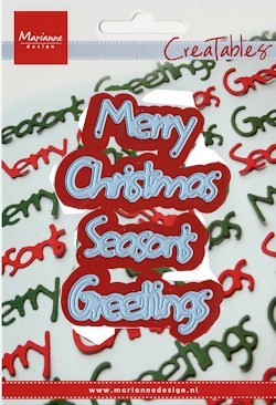 Marianne Design - Creatables - Merry Christmas - Seasons Greetings