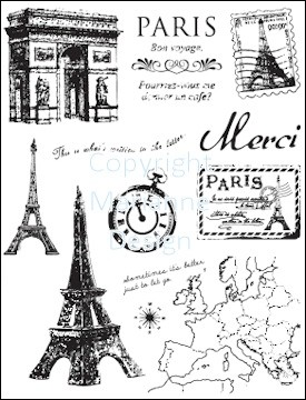 Marianne Design - Clearstamps - Paris