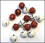Christmas Bells - Red & White 8 mm