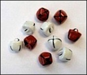 Christmas Bells - Red & White 12 mm