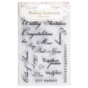 Papermania - Clearstamp - Wedding Sentiments