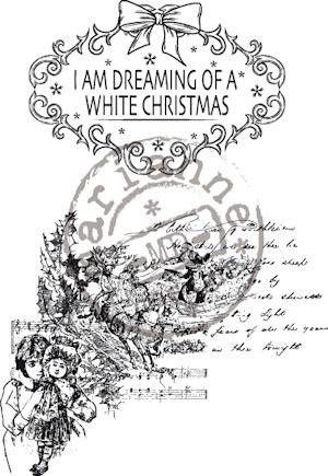 Marianne Design - Clearstamp - Vintage Dreaming of a White Xmas