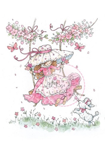 Wild Rose Studio - Clearstamp - Annabelle on Swing