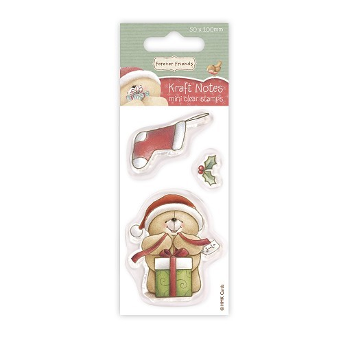 Forever Friends - Clear Stamp - Christmas Kraft Notes - Stocking